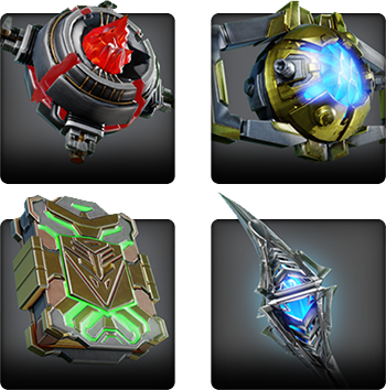 Screenshot of four different relics