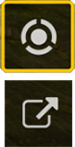 Screenshot of the reticle and quit mission icons that will allow you to view the enemy class breakdown