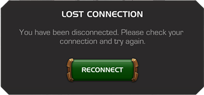 Screenshot of error Lost Connection