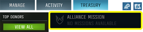 Screenshot showing how to access alliance missions in the game