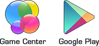 Images of the Game Center and Google Play icons