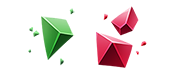 Image of two tiers and types of Upgrade Gem Shards.