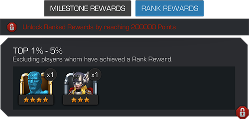 A screenshot of the rank rewards displayed for the top 1% to 5% of summoners during the run of the arena.