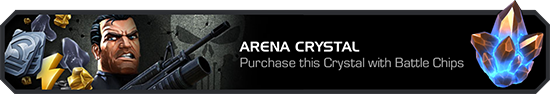 A screenshot of the Arena Crystal display as it is shown in the crystals tab.