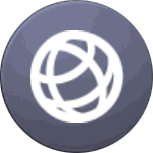 Image of the gray global node icon.