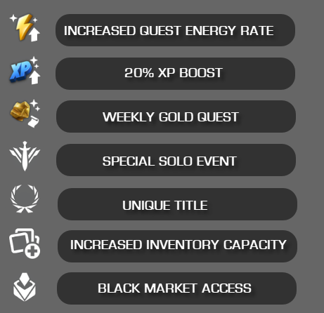 An image displaying the rewards received from subscribing to the Summoner Sigil.
