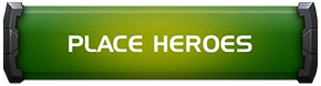 A screenshot of the green button labeled place heroes that can be found in alliance wars.