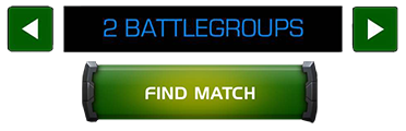 An image showing the amount of battlegroups selection paired with a find match button.