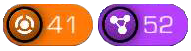 An image of the orange local node icon beside the purple linked node icon, each with the number of nodes on the map.